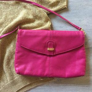 Vintage Hot Pink Crossbody Bag; 80s Purse